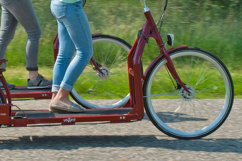 Step fiets met loopband